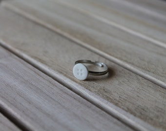 Ceramic Button Ring