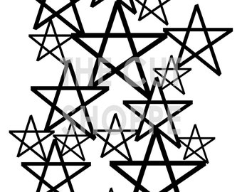 The Counting Stars Cut File, consists of welded stars, that you can use on your paper projects.