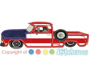66 Chevy applique Design -In Hoop sizes 5X7, 7x5, 9x9- Instant Download - for Embroidery Machines