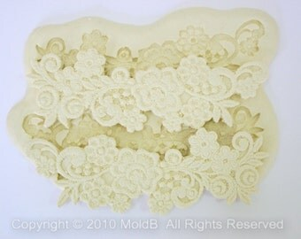Silicone Lace Mould Sugarcraft Mold Fondant Molds Sugar Veil  Polymer Clay Soap Molds,Cake Decorating Tools, Ellegance Flower Lace