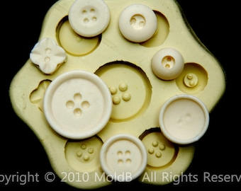 Silicone molds,Sugarcraft Molds, Polymer Clay,Soap Molds, Cake Decorating Tools,Candy, Chocolate, Button #7
