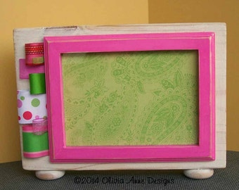 Pink & Green Ribbon Embellished Picture Frame (5 x 7)