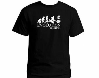 Evolution Jiu Jitsu MMA black 100% cotton customized man t-shirt