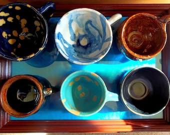 "The ""Coffee Love"" cups- Treasury Item"