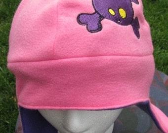Cat Skully Fleece Ear Flap Hat