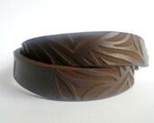 Zebra print laser cut leather wrap bracelet