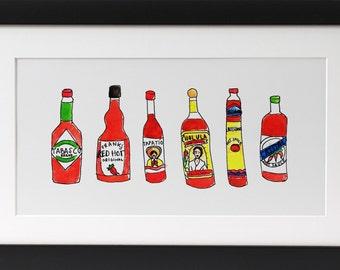 Hot Sauce Print