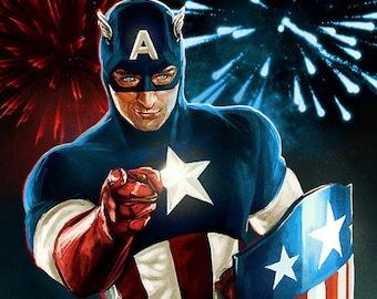 Captain America Poster Avengers  11*17