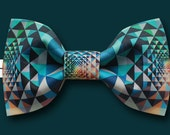 Behind Triangle Bowtie - Modern Boys Bowtie, Toddler Bowtie Toddler Bow tie,Pre Tied and Adjustable