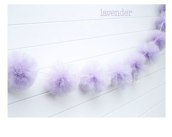 This listing is for (1) Lavender Tulle Garland