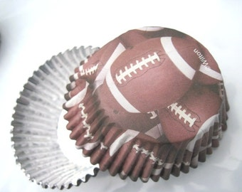 Football Cupcake - Cupcake Papers - Traditional Size - Football Party - Football theme - Super Bowl - Sports