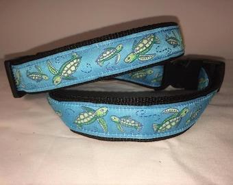 Super Fun Dog Collar Sea Turtles