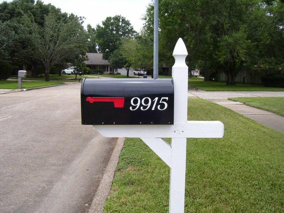Mailbox number vinyl decal set of 2 vinyl numbers number