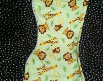 Flannel and terry cloth burp cloth
