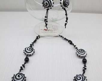 Black and white lampwork set.