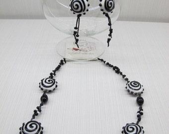 Black and white lampwork set.