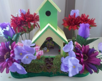 Summers colors fairy house