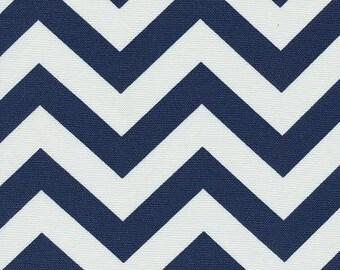 Chevron Fabric By The Yard, Chevron Blue