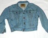 "Ladies Levi Strauss Denim Jacket Size M ""The Big Jean"""