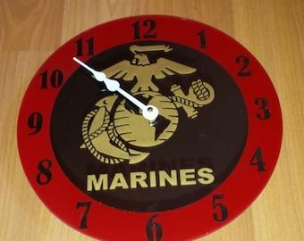 Marines Clock - Mirror