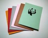 Panda Notebook - journal, staple bound, multipack, zoo animal, cute panda, custom printing included