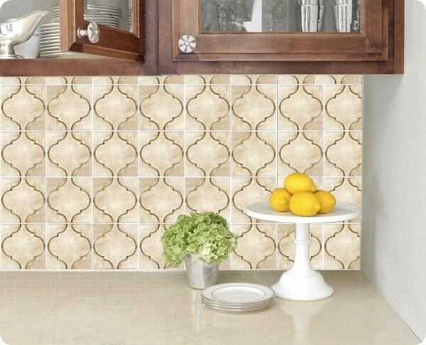 Kitchen Bathroom Tile Decals Vinyl Sticker : Moroccan Natural