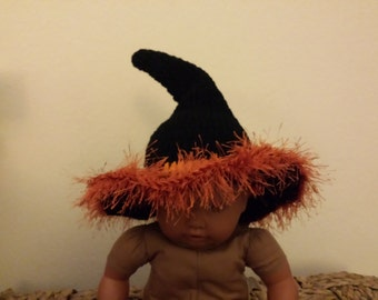 Halloween crochet baby Witch Hat
