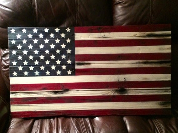 American Flag Beautifully Hand Painted On Reclaimed Wood Various Sizes Available Adds A Touch Of Charm To Your Home Inside Or Outside Office