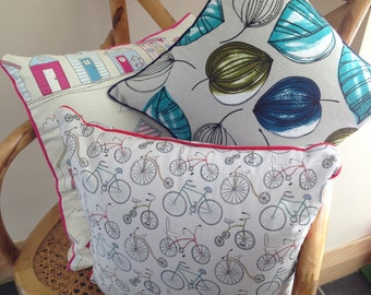 PDF Sewing Pattern for Piped Cushion with Covered Zip