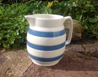 Vintage Blue Banded Chef Ware Cream Jug