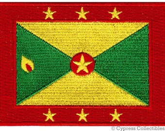 GRENADA FLAG PATCH iron-on embroidered applique Top Quality