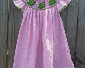 Smocked Frog Bishop Dress