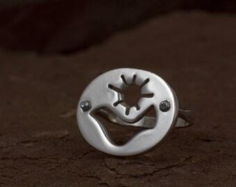 Dove Sun Ring - Sterling Silver