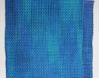 Handwoven Purple and Aqua Placemat