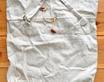"Rustic Burlap Linen Shopping Bag W18"" x H19"""
