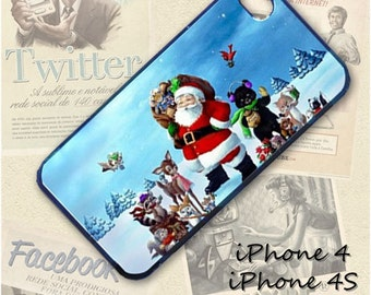Christmas Santa cell phone Case / Cover for iPhone 4, 5, Samsung S3, HTC One X, Blackberry 9900, iPod touch 4 / 706
