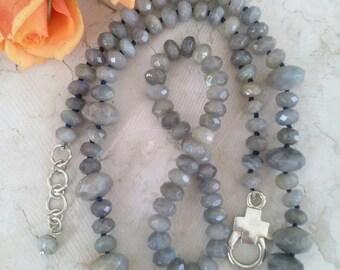 Faceted Labradorite Necklace Frame To Node