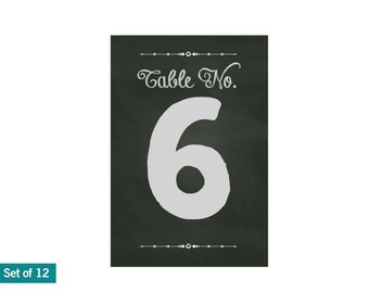 Chalkboard sign, wedding chalkboard signs, table numbers, chalkboard table settings, wedding decor, printable