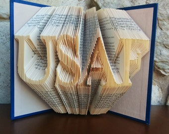 USAF - Folded Book Art - Fully Customizable, Military, Air Force