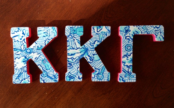 Kappa kappa gamma lilly pulitzer greek letters by artbyaleisha for Lilly pulitzer sorority letters