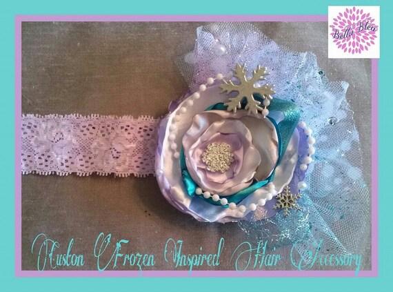 "Custom ""Ice Princess"" Singed Flower Hair Accessory"