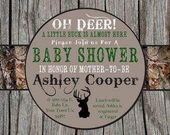 Camo Baby Shower Invitation