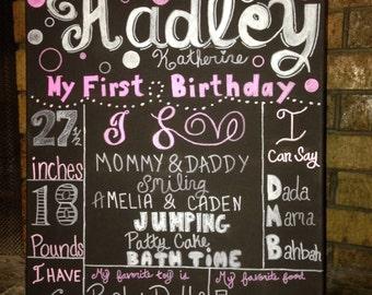 Birthday milestone board