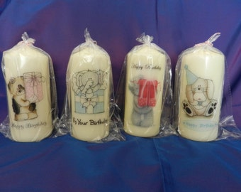 Hand crafted candles with designs that give the wow! factor.  Candles can be personalised with your own sentiment the choices are endless.