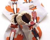 Mr. Fox Baby Shoes and Bandana Gift Set