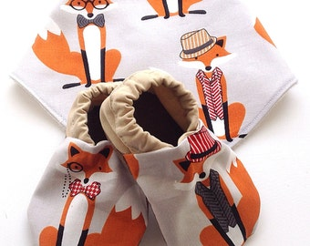 Mr. Fox Baby Shoes and Bandana Gift Set