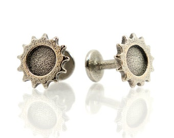 Bicycle Cufflinks; Bike Track Sprocket Cog -For Cycling, Fixie, Fixed Gear Fan,  Vintage Cuff Link