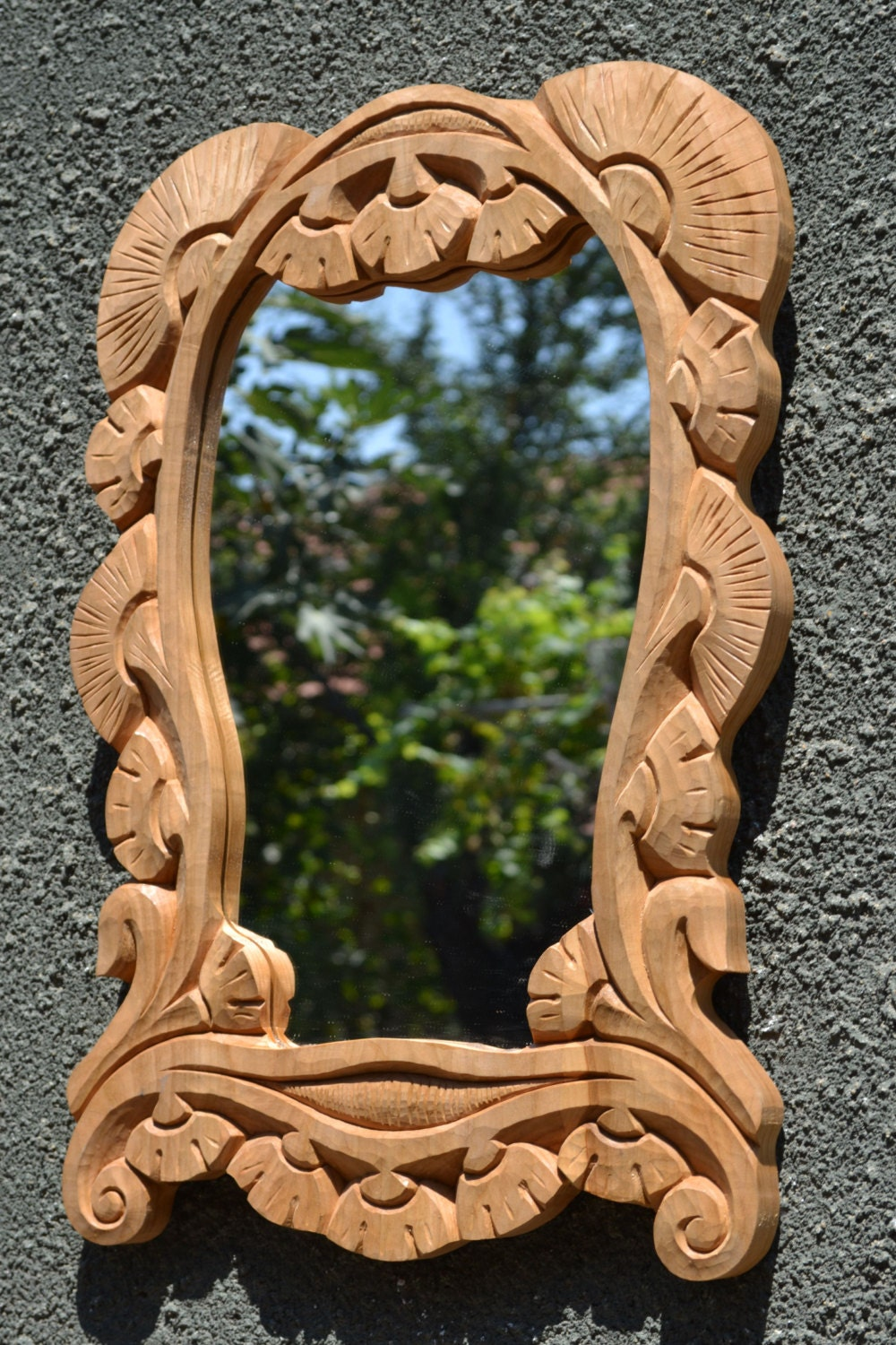 Wood wall art wood carving wall mirror wooden frame wall zoom amipublicfo Choice Image