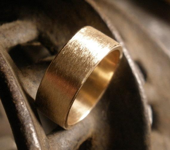 bronze wedding band simple engagement ring rustic handmade