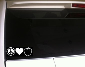 "Peace Love Teach Car Decal Vinyl Sticker *C24 7.5""  Laptop Teacher Teaching School Education"